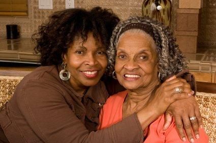 mother daughter black